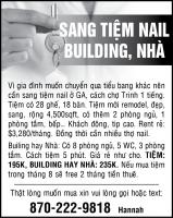 Cần bán tiệm nails và nhà (building)