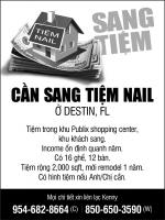 CẦN SANG TIỆM NAIL Ở DESTIN, FL