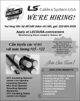 LS Cable & System USA WE'RE HIRING!