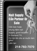 Nail Supply Cần partner or sale