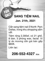 New!!! New!!! sang tiệm nail 01/21/21
