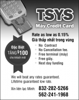 TSYS -  Máy Credit Card